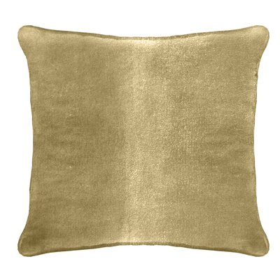 Ted Velvet 100% Cotton Euro Pillow Color: Tortilla