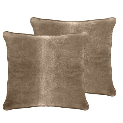 Ted Velvet Euro Pillow Color: Pebble