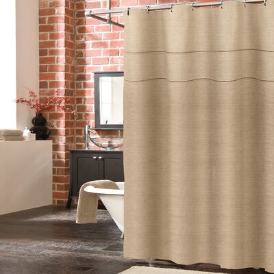 Blaisdell Linen Shower Curtain Color: Linen