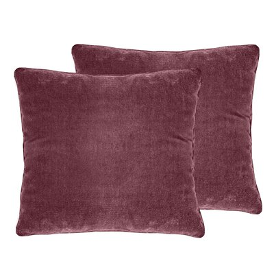 Ted Velvet Throw Pillow Color: Berry