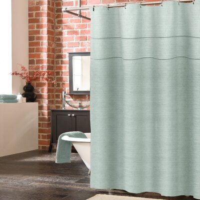 York Linen Shower Curtain Color: Mineral