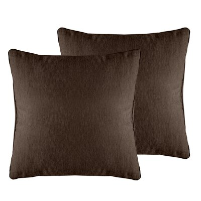 Brownsburg Solid Chenille Throw Pillow Color: Brown Stone