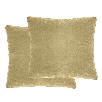 Luxury Velvet Throw Pillow Color: Apple Cider