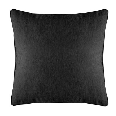 Brownsburg Modern Chenille Euro Pillow Color: Black