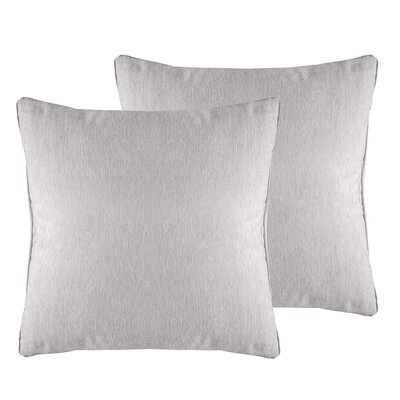 Brownsburg Solid Chenille Throw Pillow Color: Silver