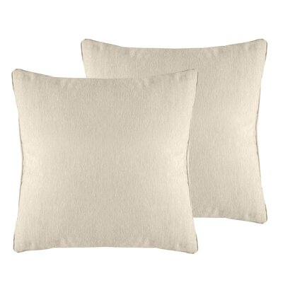 Brownsburg Solid Chenille Throw Pillow Color: Ivory