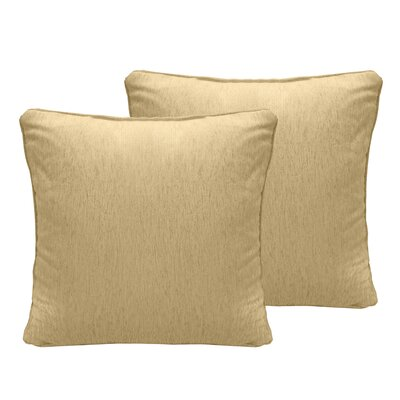 Brownsburg Chenille Euro Pillow Color: Wheat