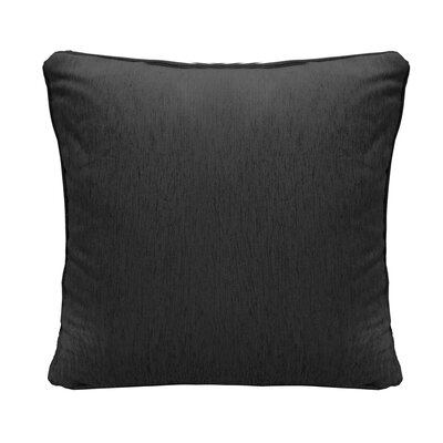 Brownsburg Square Chenille Throw Pillow Color: Black