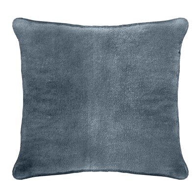 Ted Velvet 100% Cotton Euro Pillow Color: Baby Blue