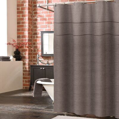 Blaisdell Linen Shower Curtain Color: Brown