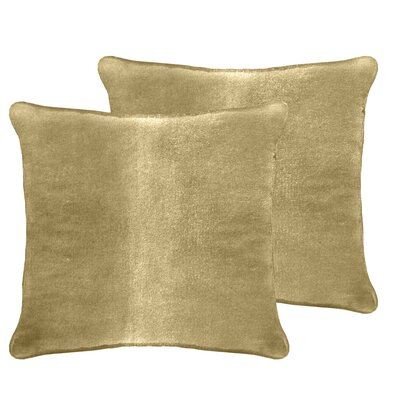 Ted Velvet Euro Pillow Color: Apple Cider