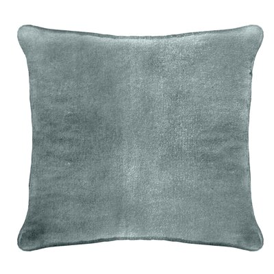 Ted Velvet 100% Cotton Euro Pillow Color: Cyan