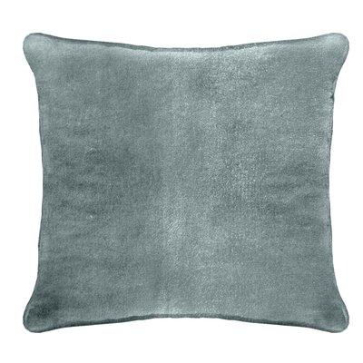 Ted Velvet 100% Cotton Euro Pillow Color: Cyan