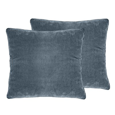 Ted Velvet Throw Pillow Color: Juniper