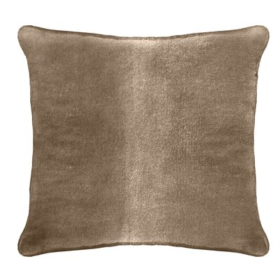 Ted Velvet 100% Cotton Euro Pillow Color: Tan