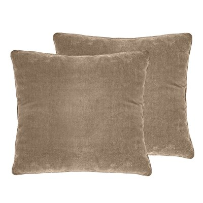 Ted Velvet Throw Pillow Color: Pebble