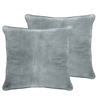 Ted Velvet Euro Pillow Color: Silver