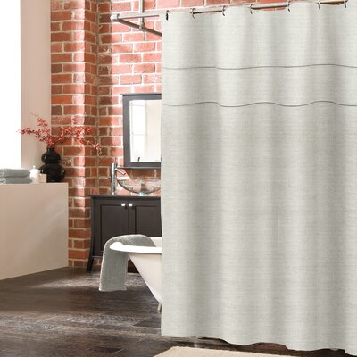 Blaisdell Linen Shower Curtain Color: Pearl