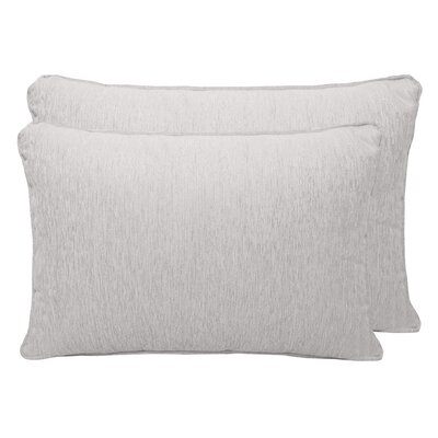 Brownsburg Chenille Boudoir Pillow Color: Silver