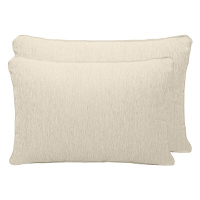 Luxe Chenille Boudoir Pillow Color: Ivory