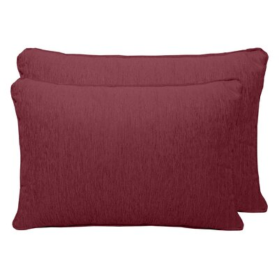 Brownsburg Chenille Boudoir Pillow Color: Sangria