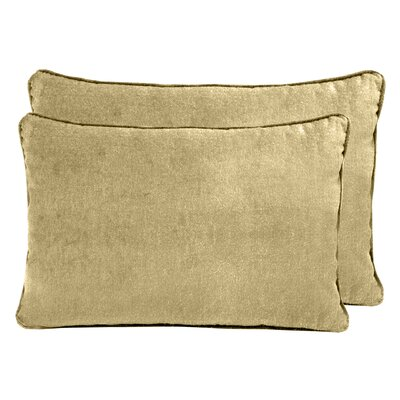Ted Velvet Boudoir Pillow Color: Apple Cider