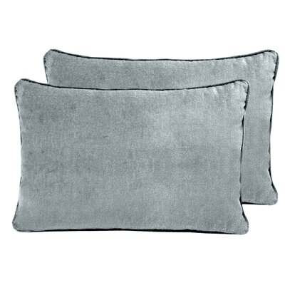 Ted Velvet Boudoir Pillow Color: Silver