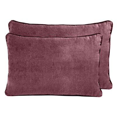 Ted Velvet Boudoir Pillow Color: Berry