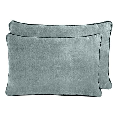 Ted Velvet Boudoir Pillow Color: Blue Smoke