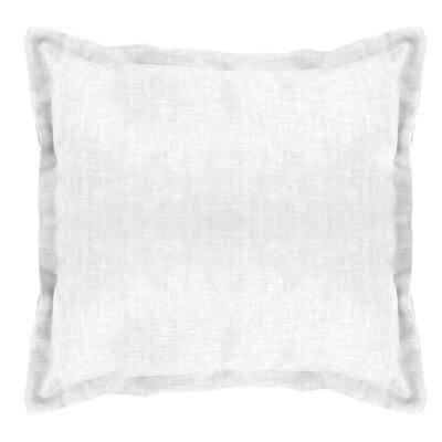 Brownstown Linen Euro Sham Color: Optical White