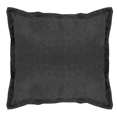 Brownstown Linen Euro Sham Color: Black