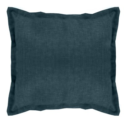Brownstown Linen Euro Sham Color: Dark Teal