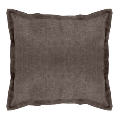 Brownstown Linen Euro Sham Color: Brown