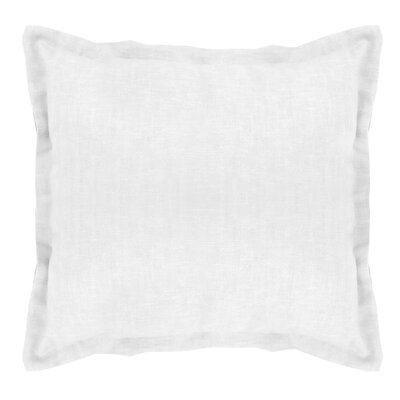 Brownstown Linen Throw Pillow Color: Optical White