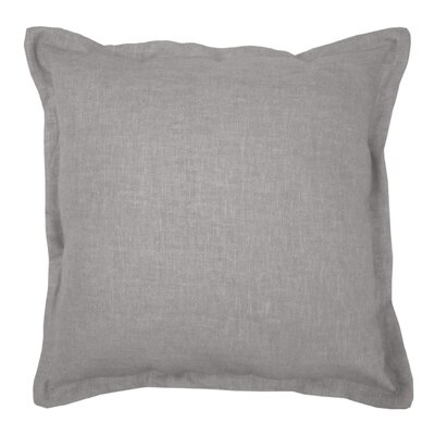Brownstown Linen Throw Pillow Color: Dark Gray