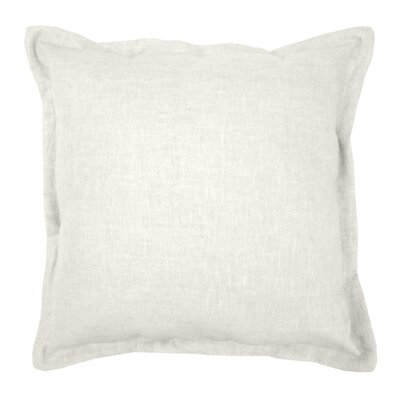 Brownstown Linen Throw Pillow Color: Pearl