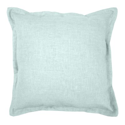 Brownstown Linen Throw Pillow Color: Mineral Blue