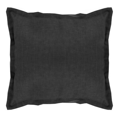 Brownstown Linen Throw Pillow Color: Black