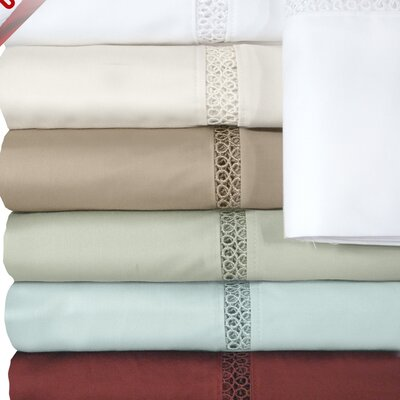Princeton 500 Thread Count Sheet Set Size: Queen, Color: White