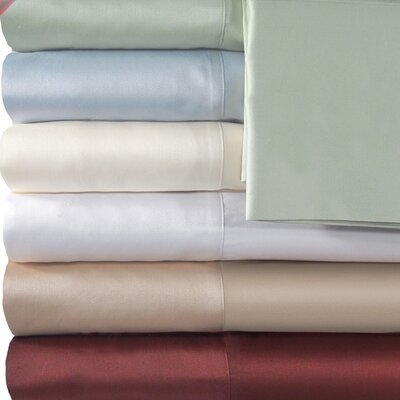 Supreme Sateen 500 Thread Count Solid Sheet Set Size: Twin, Color: White