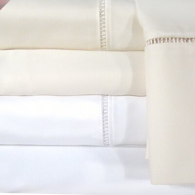 Legacy 1200 Thread Count Sheet Set Color: Ivory, Size: Full