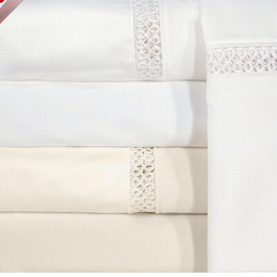 Princeton 1200 Thread Count Sheet Set Size: Full, Color: White
