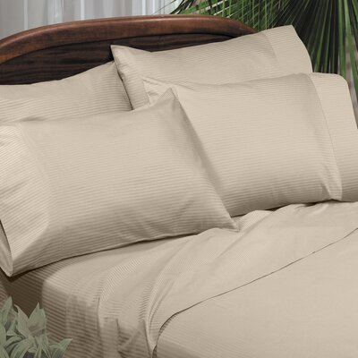 Regan Egyptian Quality Cotton Sheet Set Size: King, Color: Taupe