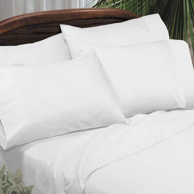 Regan Egyptian Quality Cotton Sheet Set Size: Full, Color: White