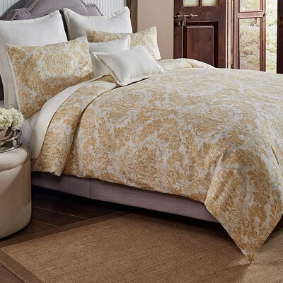 Jim 3 Piece Duvet Cover Set Size: King, Color: Gold