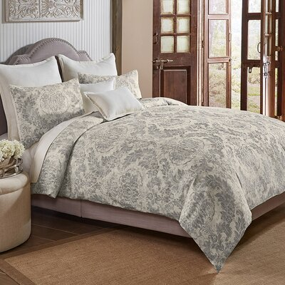 Jim 3 Piece Duvet Cover Set Size: King, Color: Gray