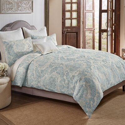 Jim 3 Piece Duvet Cover Set Size: King, Color: Sea Mist
