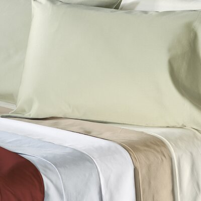Supreme Sateen 500 Thread Count Solid Pillowcase Color: White, Size: Standard