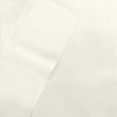 600 Thread CountTencel Pillow Case Pair Color: Ivory, Size: Standard