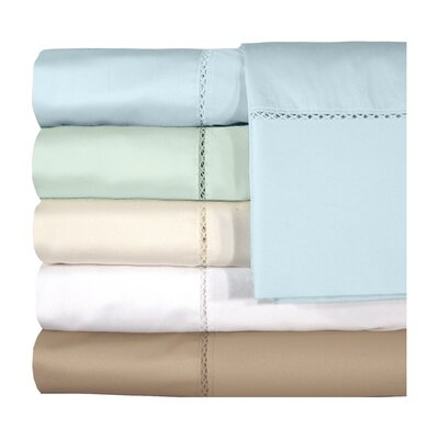 Bella 300 Thread Count Egyptian Quality Cotton Sheet Set Color: White, Size: Queen